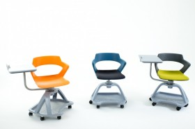 Mobilier de formation et learning lab : la chaise mobile QBS